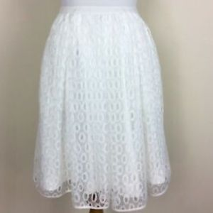 Anthropologie Maeve Lawn Party Overlay Skirt EUC